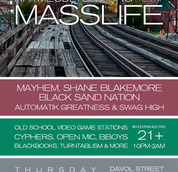 MASSLIFE @ Davol Street Station | THURSDAY 11.15.12