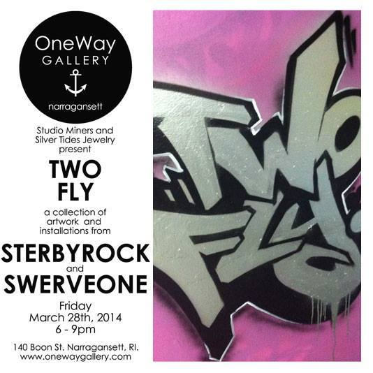 TWO FLY: The Artwork of Sterbyrock & Swerve One @ OneWay Gallery | FRIDAY 3.28.14