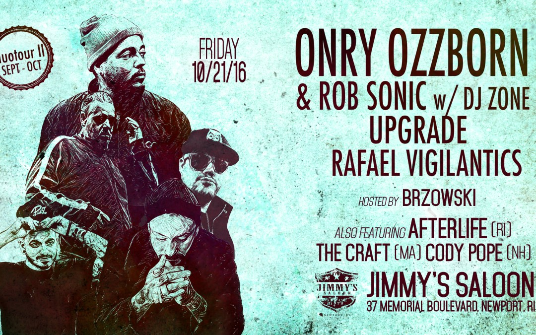 Onry Ozzborn, Rob Sonic & more | duotour II