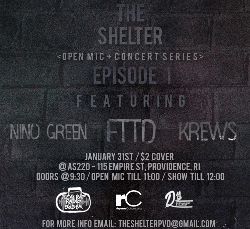 ATTN #RAPPERS #PRODUCERS The Shelter [Open Mic + Concert Series] Episode 1 is LIVE 1.31.17