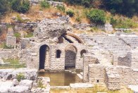 The ruined city of Butrint in southern Albania, 1995