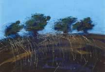 Trees and Grass by Denis Wirth-Miller, 1972. Private Collection.