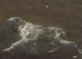 Dog painting found in Wirth-Miller's studio. Unattributed. Image courtesy of Jon Lys Turner.