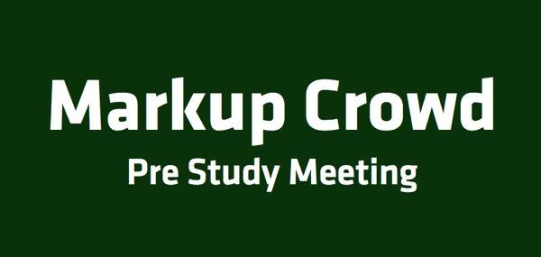MarkupCrowd preStudy