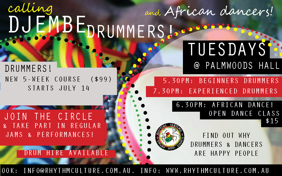 Drum classes new times and dates