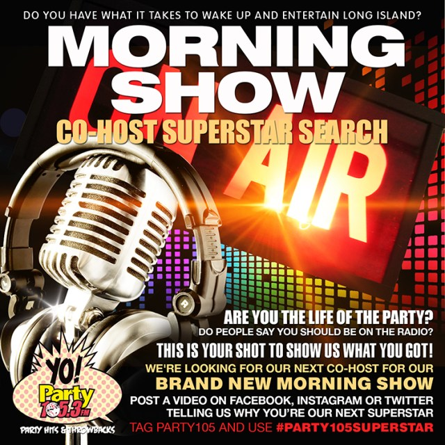 PARTY105 IS SEARCHING FOR A MORNING SHOW CO-HOST