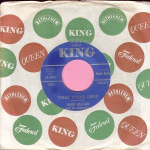 "Hank Ballard "" These Young Girls "" King M-"