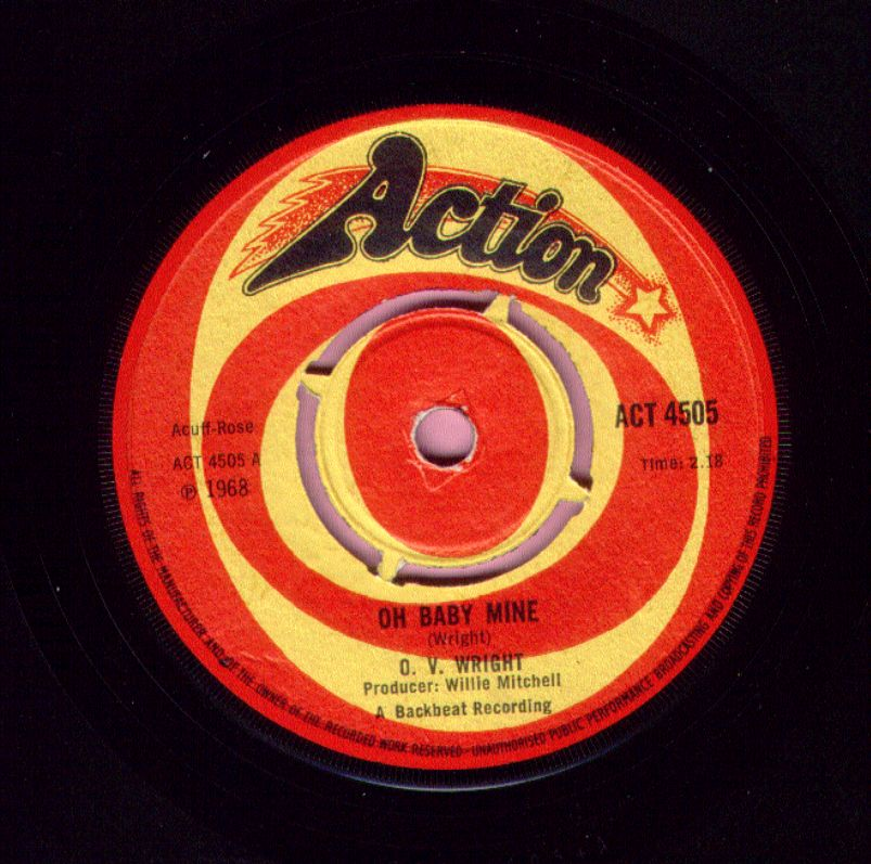 """O. V. Wright """" Oh Baby Mine """" / """" Working Your Game """" Action Vg+"""
