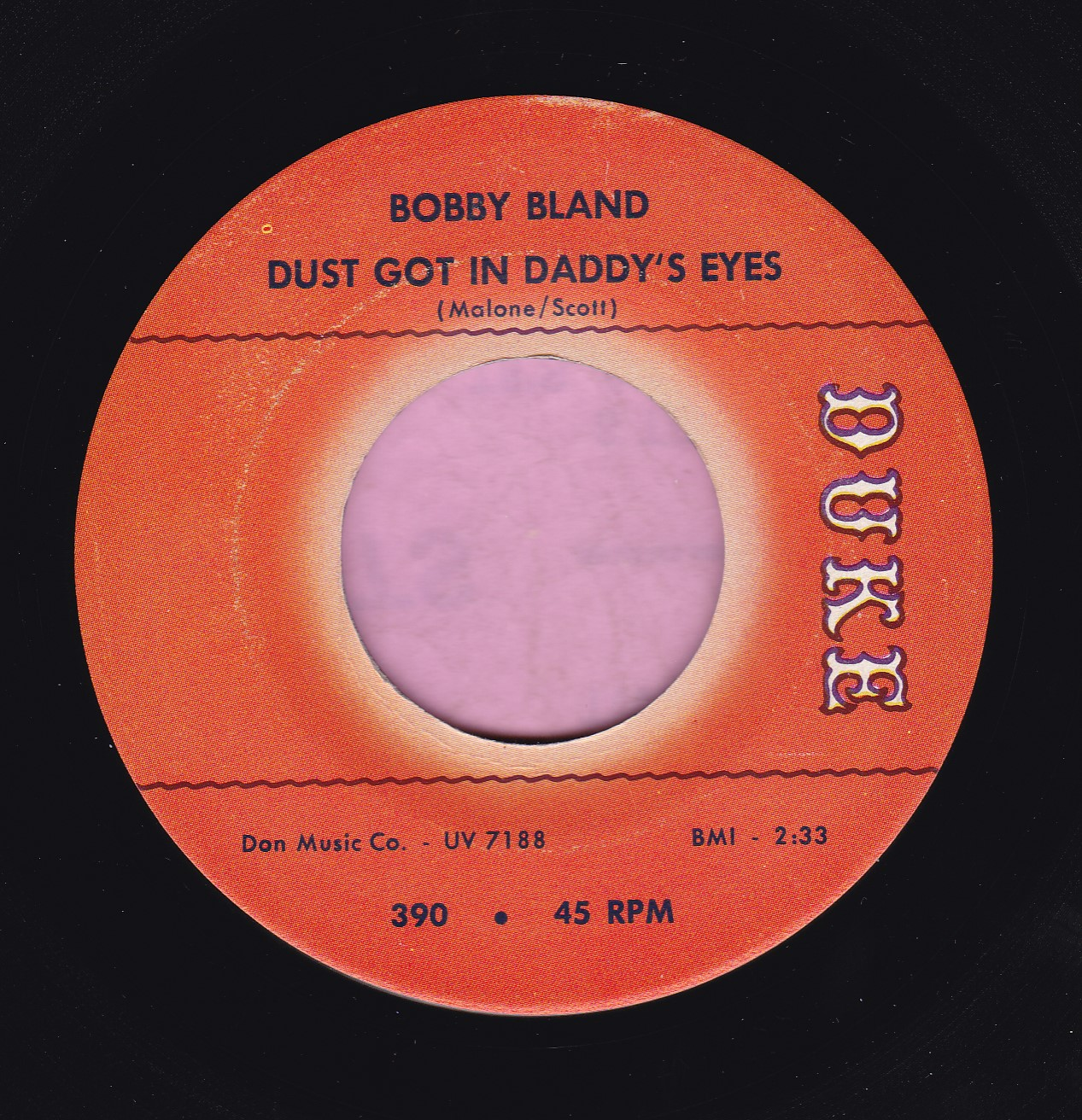 "Bobby Bland "" Dust Got In Daddy's Eyes "" Duke Vg+"