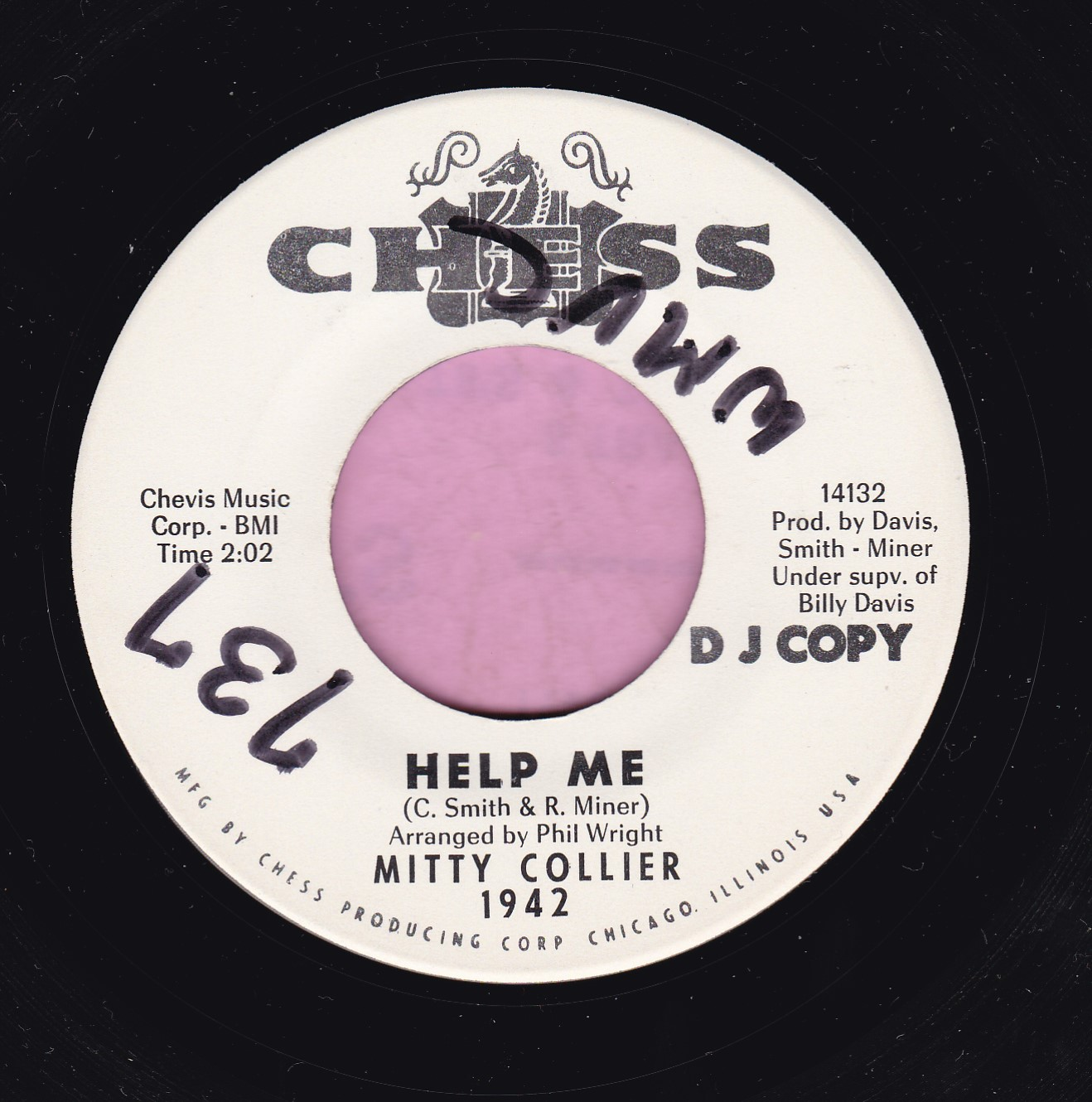 "Mitty Collier "" Help Me "" Chess Demo Vg+"
