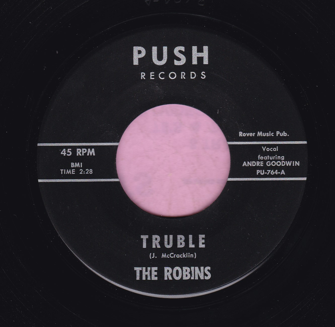 "The Robins "" Truble "" Push Records Vg+"