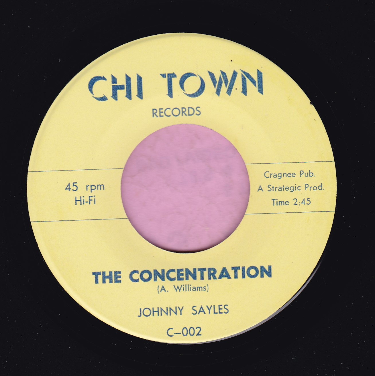 "Johnny Sayles "" The Concentration "" Chi Town Records Vg+"