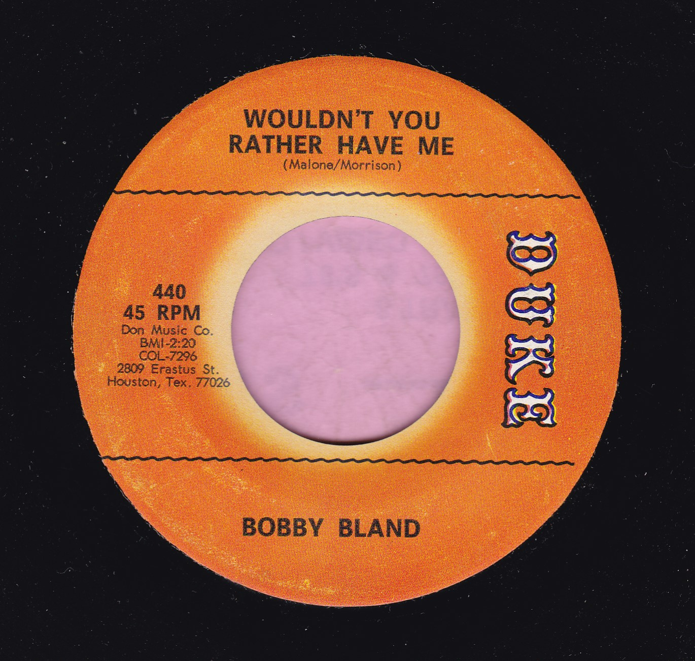 "Bobby Bland "" Wouldn't You Rather Have Me "" Duke Vg+"