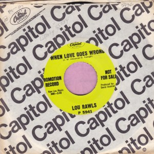 """Lou Rawls """" When Love Goes Wrong """" Capitol Demo Vg+"""