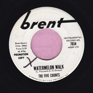 "The Five Counts "" Watermelon Walk "" Brent Demo Vg+"