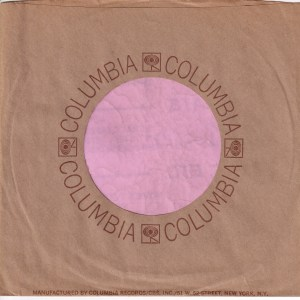 Columbia Address Details On Front U.S.A. Company Sleeve 1969 – 1973