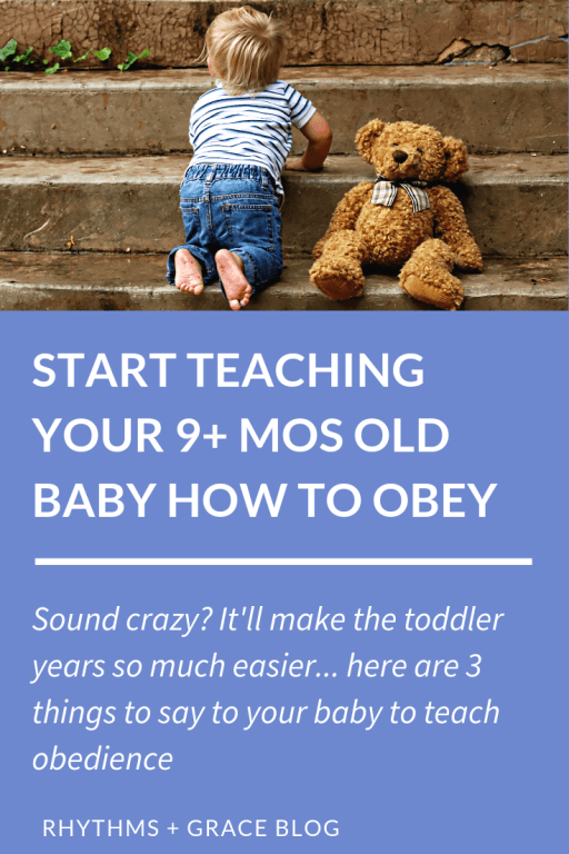 tons of great tips for toddler discipline here - it starts by teaching your baby no; how to teach your 1 year old no; how to teach 1 year old obedience; 1 year old discipline tips #parentingtips #parentingtoddlers #1yearold grace based parenting; gospel centered parenting