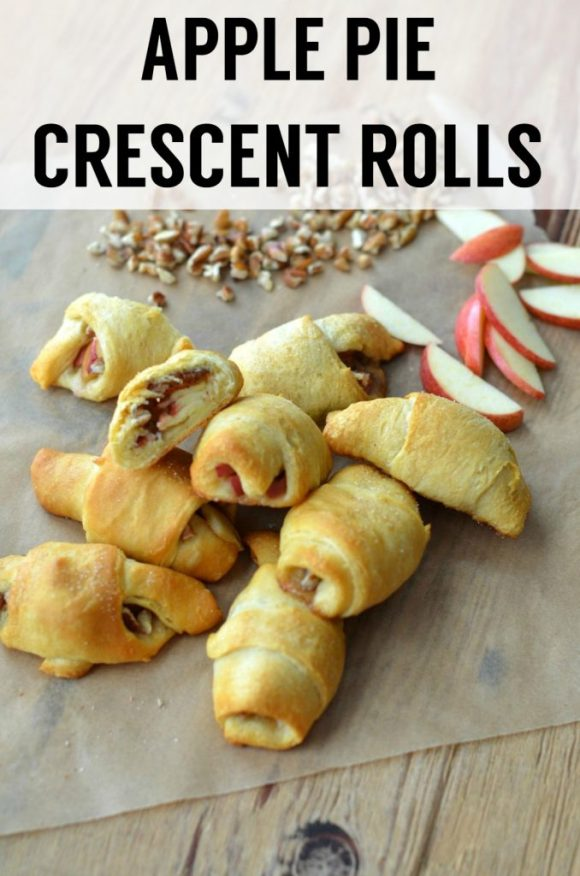 These apple pie crescent rolls are quick, easy, and delicious! A perfect apple treat for breakfast or dessert.