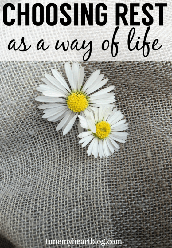 how to choose simplicity and rest as a way of life.