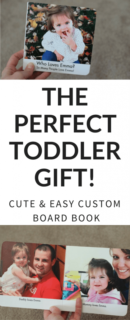 This super cute custom board book is the perfect gift for toddlers!