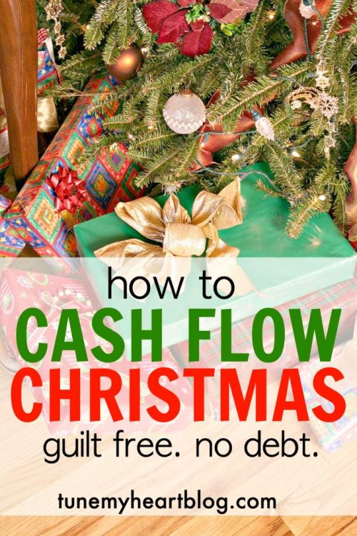 If you didn't save up for Christmas AND don't want to spend money you don't have on a credit card, try cash flowing Christmas! Here's how!