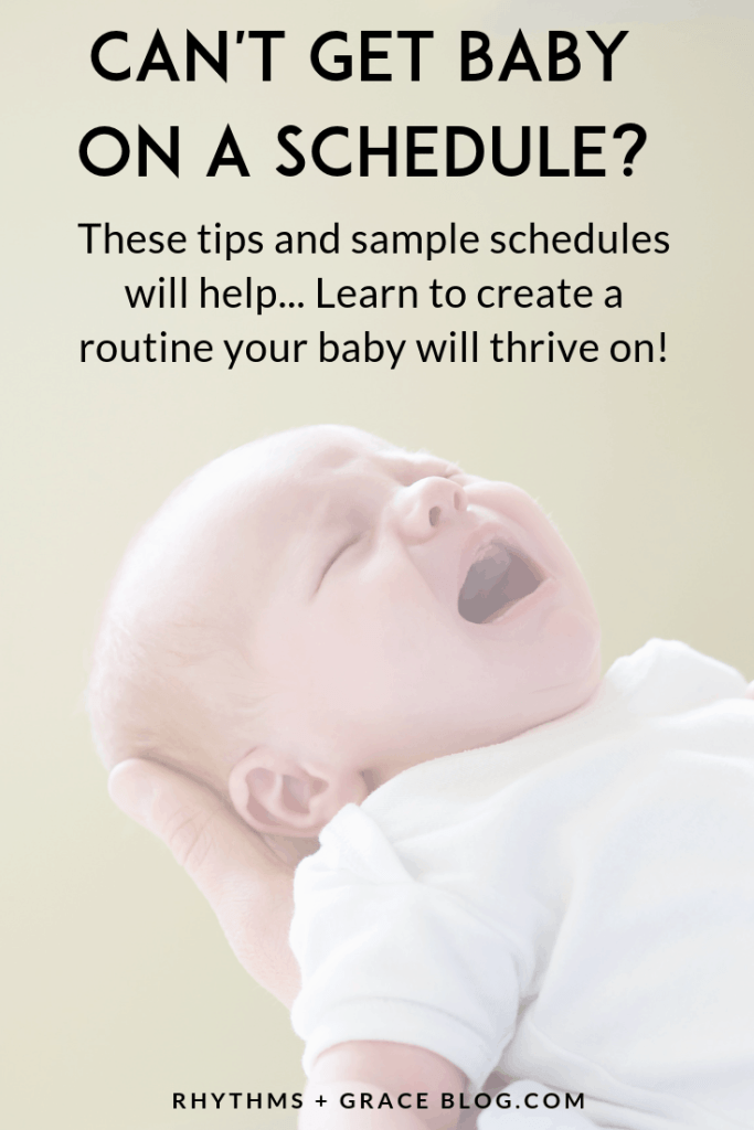 The ideal time to learn about how to get baby on a schedule is when you're pregnant! Figure out newborn sleep schedules and sample bedtime routines for your baby before baby arrives. This article has tons of sleep training tips for every age the first year. #motherhood #newborns #babysleep #parenting #pregnancy