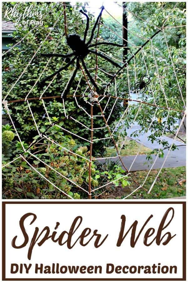 Giant Halloween Spider Web Decoration Rhythms Of Play