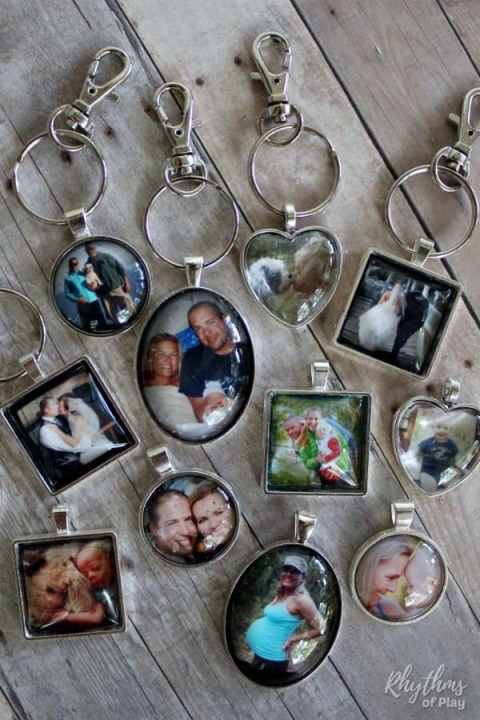 DIY Picture Keychain photo charms homemade custom gift idea diy
