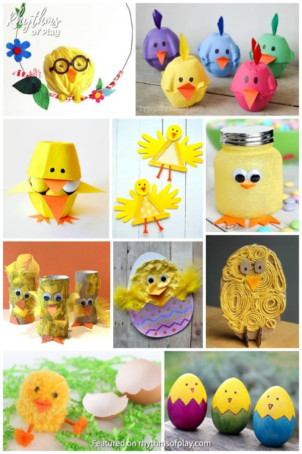 cute baby chick craft