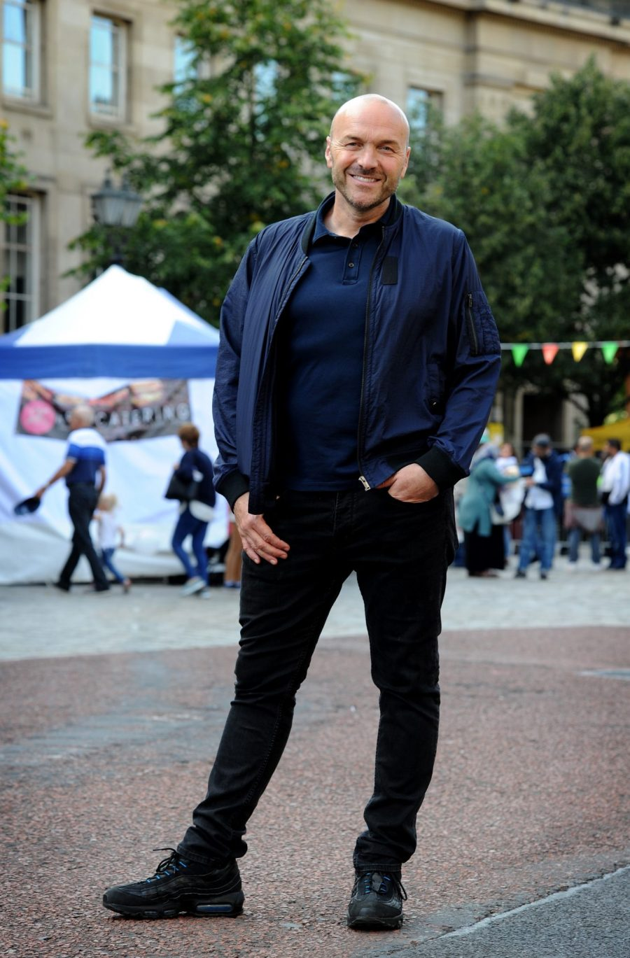 Day two of the annual Bolton Food and Drink Festival. Celebrity chef Simon Rimmer, that star attraction for the day. Picture by Paul Heyes, Saturday August 26, 2017.