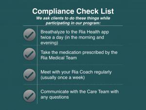 Ria Health compliance checklist