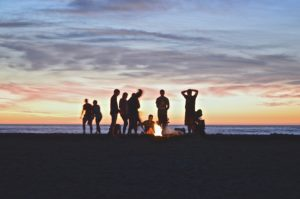 how drunk are you? gathering on a beach