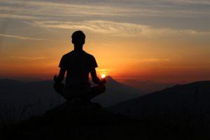 alcohol and sleep person meditating