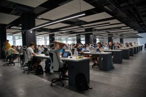 long hours and risky drinking people at desks