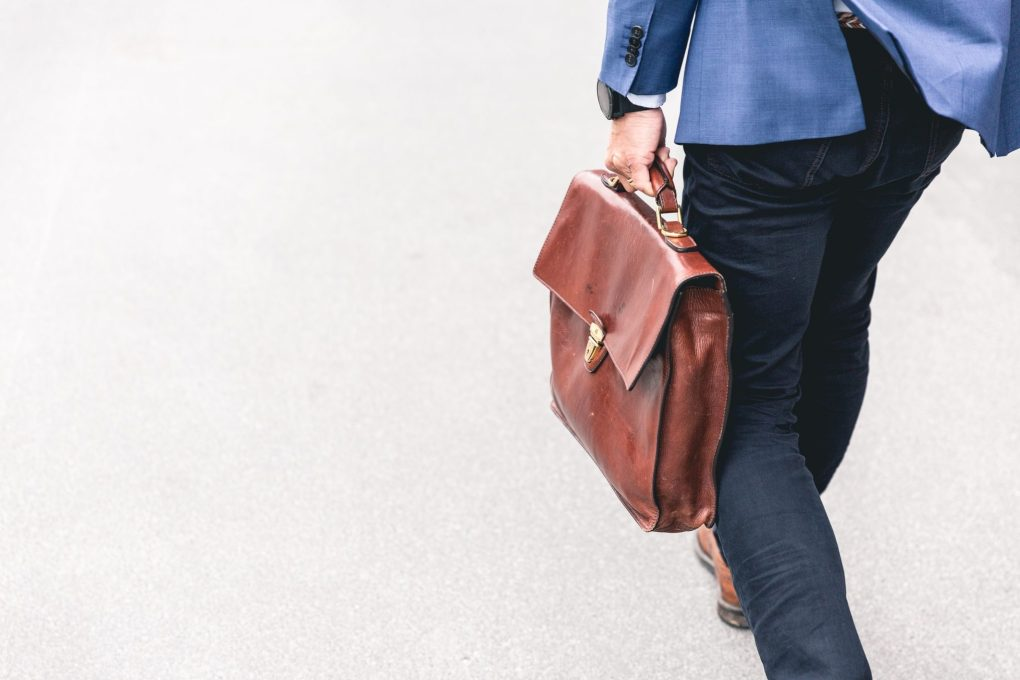 person walking with briefcase, high-functioning alcoholic