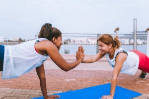 alternatives to drinking alcohol women exercising together