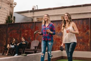women playing bocce newly sober friend