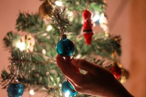 hanging ornaments for a sober holiday party