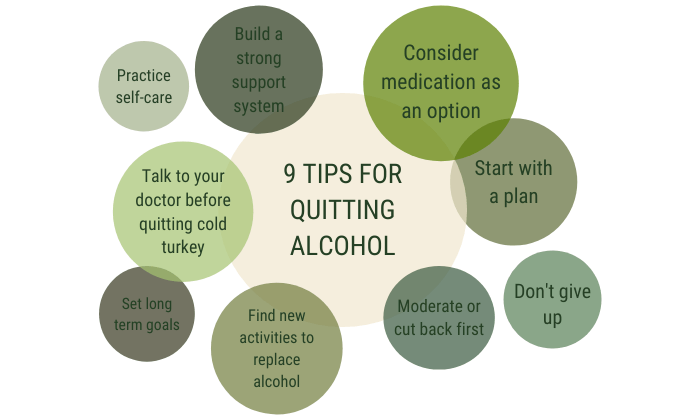 9 tips to stop drinking alcohol