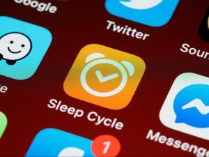 sleep cycle app on phone screen