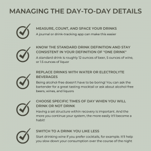 Tips for managing the day-to-day details of cutting back