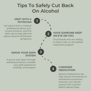list of tips for cutting back safely