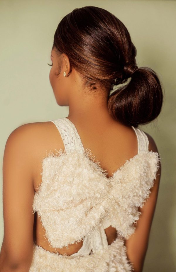 up close of the back view of fairy dress by Ria Kosher