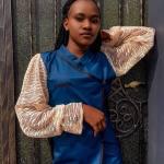 Bolde Net Puff Sleeves Dress