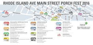 Porch Fest is Here! Check out the map of where all the porches will be rocking or jamming or whatever on a beautiful day!