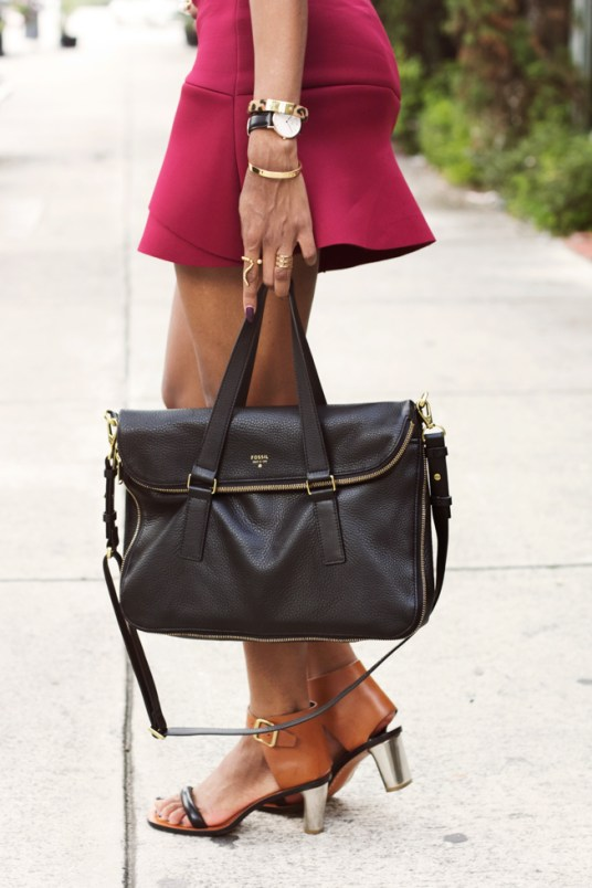 Fossil-Preston-Black-Tote