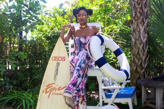 Ria-Michelle-ASOS #EpicSummer at Soho Beach House-Lifeguard