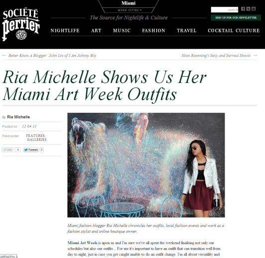 Societe Perrier Art Basel Outfits