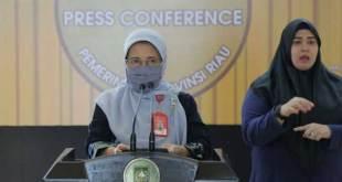 Kepala Dinas Kesehatan Riau Hj Mimi Yulianti Nazir.