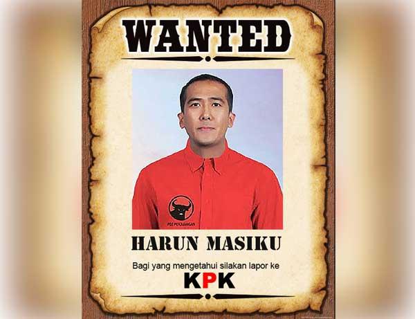 Buronan KPK Harun Masiku.